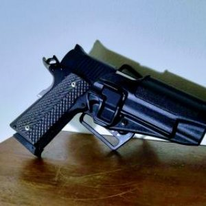 Magnum Research DE1911G with Serpa Holster