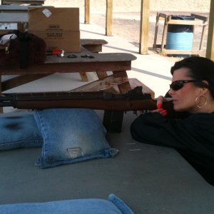 "T shoots a .667"" 3 shot group with the M1A - - @ 200yrds!!!  (first time with peep sights too!)"